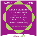 Daily WOW 12-23-2014
